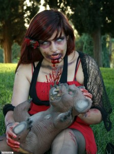 Pauline the Ultimate  Zombie Cosplague Cosplay character.